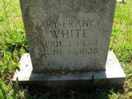 WHITE, MARY FRANCIS - Boone County, Arkansas | MARY FRANCIS WHITE - Arkansas Gravestone Photos