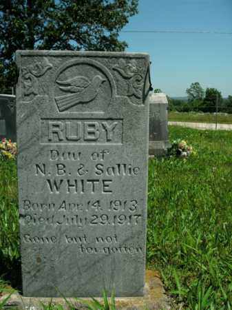 WHITE, RUBY - Boone County, Arkansas | RUBY WHITE - Arkansas Gravestone Photos