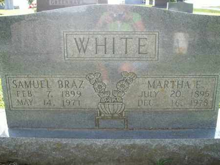 WHITE, SAMUEL BRAZ - Boone County, Arkansas | SAMUEL BRAZ WHITE - Arkansas Gravestone Photos
