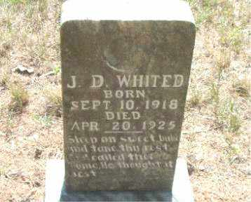 WHITED, J.  D. - Boone County, Arkansas | J.  D. WHITED - Arkansas Gravestone Photos
