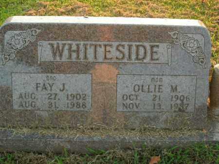 WHITESIDE, OLLIE M. - Boone County, Arkansas | OLLIE M. WHITESIDE - Arkansas Gravestone Photos
