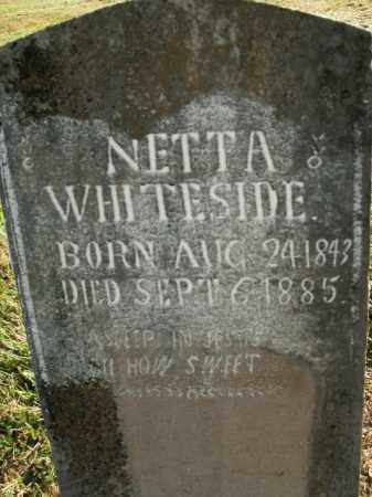 WHITESIDE, NETTA - Boone County, Arkansas | NETTA WHITESIDE - Arkansas Gravestone Photos