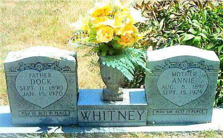 WHITNEY, ANNIE - Boone County, Arkansas | ANNIE WHITNEY - Arkansas Gravestone Photos