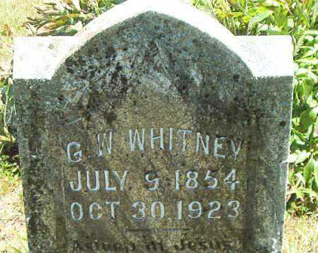 WHITNEY, G.  W. - Boone County, Arkansas | G.  W. WHITNEY - Arkansas Gravestone Photos