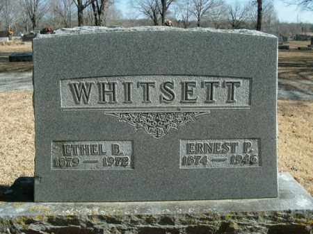 WHITSETT, ERNEST P. - Boone County, Arkansas | ERNEST P. WHITSETT - Arkansas Gravestone Photos