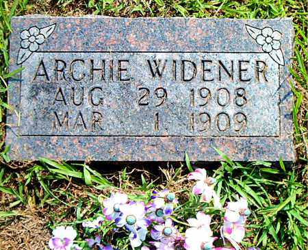 WIDENER, ARCHIE - Boone County, Arkansas | ARCHIE WIDENER - Arkansas Gravestone Photos