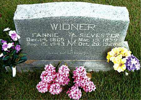 WIDNER, FANNIE - Boone County, Arkansas | FANNIE WIDNER - Arkansas Gravestone Photos