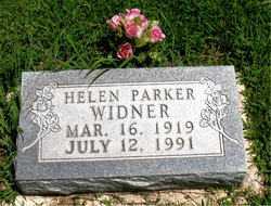 PARKER WIDNER, HELEN - Boone County, Arkansas | HELEN PARKER WIDNER - Arkansas Gravestone Photos