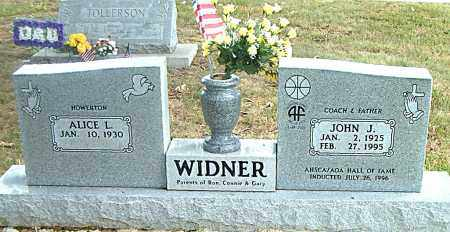 WIDNER, JOHN J. - Boone County, Arkansas | JOHN J. WIDNER - Arkansas Gravestone Photos