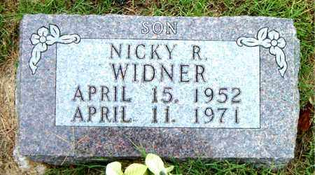 WIDNER, NICKY R - Boone County, Arkansas | NICKY R WIDNER - Arkansas Gravestone Photos