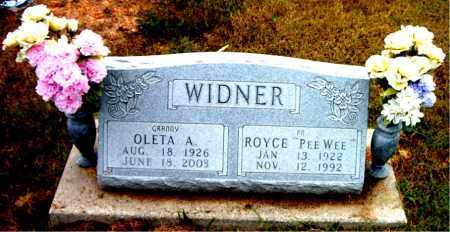 WIDNER, ROYCE - Boone County, Arkansas | ROYCE WIDNER - Arkansas Gravestone Photos