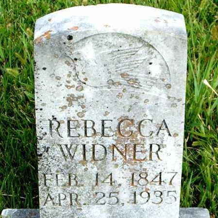 WIDNER, REBECCA - Boone County, Arkansas | REBECCA WIDNER - Arkansas Gravestone Photos