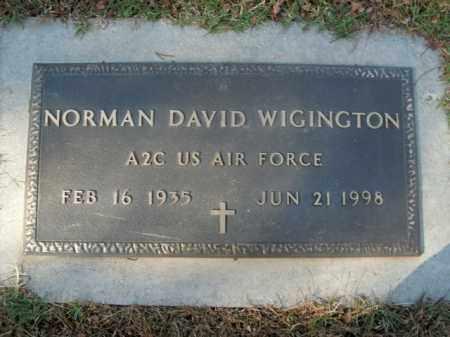 WIGINGTON  (VETERAN), NORMAN DAVID - Boone County, Arkansas | NORMAN DAVID WIGINGTON  (VETERAN) - Arkansas Gravestone Photos
