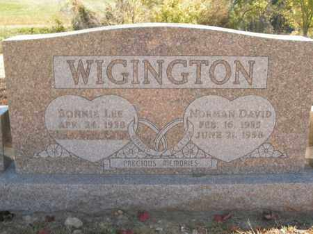 WIGINGTON, NORMAN DAVID - Boone County, Arkansas | NORMAN DAVID WIGINGTON - Arkansas Gravestone Photos