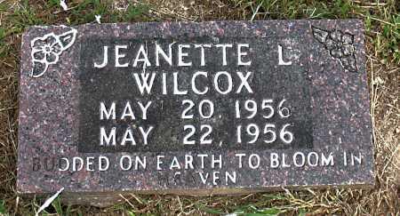 WILCOX, JEANETTE L - Boone County, Arkansas | JEANETTE L WILCOX - Arkansas Gravestone Photos