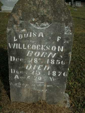 WILLCOCKSON, LOUISA F. - Boone County, Arkansas | LOUISA F. WILLCOCKSON - Arkansas Gravestone Photos