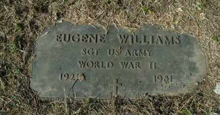 WILLIAMS  (VETERAN WWII), EUGENE - Boone County, Arkansas | EUGENE WILLIAMS  (VETERAN WWII) - Arkansas Gravestone Photos