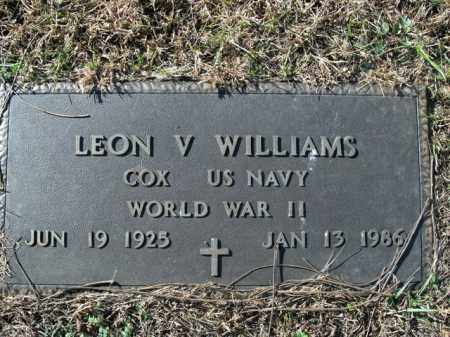 WILLIAMS  (VETERAN WWII), LEON V - Boone County, Arkansas | LEON V WILLIAMS  (VETERAN WWII) - Arkansas Gravestone Photos