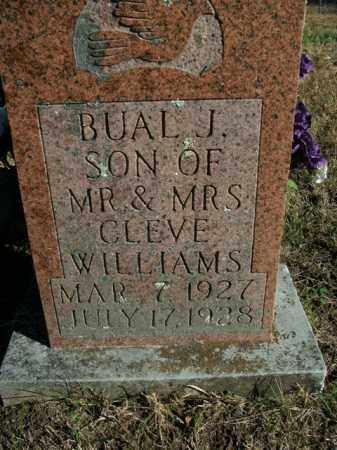 WILLIAMS, BUAL J. - Boone County, Arkansas | BUAL J. WILLIAMS - Arkansas Gravestone Photos