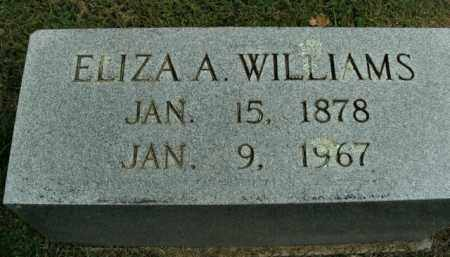 WILLIAMS, ELIZA A. - Boone County, Arkansas | ELIZA A. WILLIAMS - Arkansas Gravestone Photos