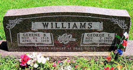 WILLIAMS, GERENE B. - Boone County, Arkansas | GERENE B. WILLIAMS - Arkansas Gravestone Photos