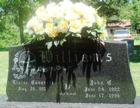 WILLIAMS  (VETERAN WWII), JOHN CHESTER - Boone County, Arkansas | JOHN CHESTER WILLIAMS  (VETERAN WWII) - Arkansas Gravestone Photos