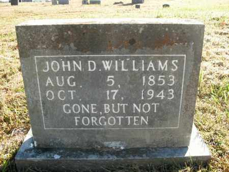WILLIAMS, JOHN D. - Boone County, Arkansas | JOHN D. WILLIAMS - Arkansas Gravestone Photos