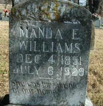 ROOP WILLIAMS, MANDA E. - Boone County, Arkansas | MANDA E. ROOP WILLIAMS - Arkansas Gravestone Photos