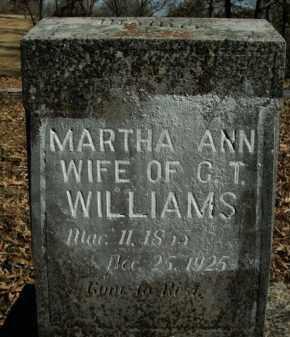 WILLIAMS, MARTHA ANN - Boone County, Arkansas | MARTHA ANN WILLIAMS - Arkansas Gravestone Photos
