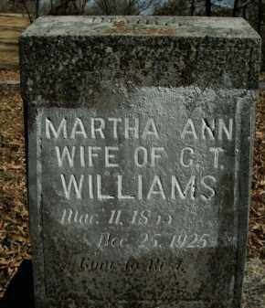 STEPP WILLIAMS, MARTHA ANN - Boone County, Arkansas | MARTHA ANN STEPP WILLIAMS - Arkansas Gravestone Photos