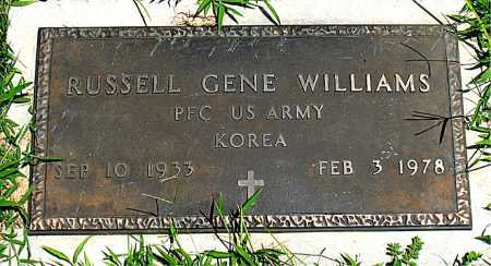WILLIAMS  (VETERAN KOR), RUSSELL GENE - Boone County, Arkansas | RUSSELL GENE WILLIAMS  (VETERAN KOR) - Arkansas Gravestone Photos