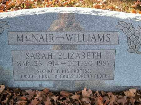 WILLIAMS, SARAH ELIZABETH - Boone County, Arkansas | SARAH ELIZABETH WILLIAMS - Arkansas Gravestone Photos