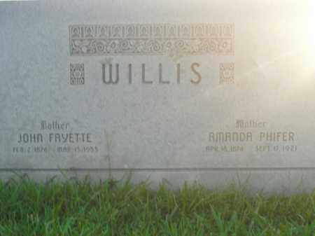 WILLIS, AMANDA - Boone County, Arkansas | AMANDA WILLIS - Arkansas Gravestone Photos