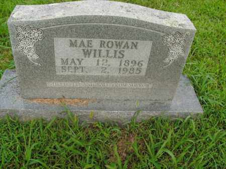 WILLIS, MAE ROWAN - Boone County, Arkansas | MAE ROWAN WILLIS - Arkansas Gravestone Photos