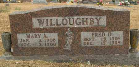 WILLOUGHBY, FRED D. - Boone County, Arkansas | FRED D. WILLOUGHBY - Arkansas Gravestone Photos