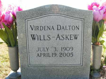 DALTON WILLS-ASKEW, VIRDENA - Boone County, Arkansas | VIRDENA DALTON WILLS-ASKEW - Arkansas Gravestone Photos