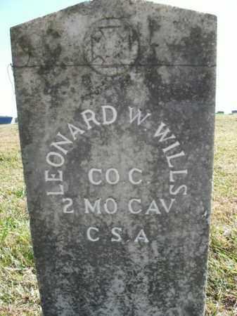 WILLS  (VETERAN CSA), LEONARD W - Boone County, Arkansas | LEONARD W WILLS  (VETERAN CSA) - Arkansas Gravestone Photos