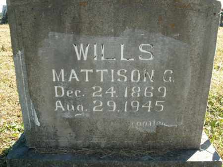 WILLS, MATTISON G. - Boone County, Arkansas | MATTISON G. WILLS - Arkansas Gravestone Photos