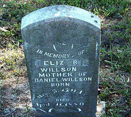 WILLSON, ELIZABETH  B. - Boone County, Arkansas | ELIZABETH  B. WILLSON - Arkansas Gravestone Photos