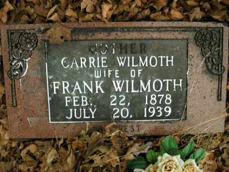 WILMOTH, CARRIE - Boone County, Arkansas | CARRIE WILMOTH - Arkansas Gravestone Photos
