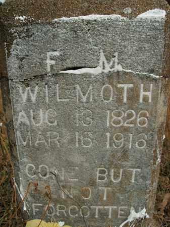 WILMOTH  (VETERAN CSA), FRANCIS MARION - Boone County, Arkansas   FRANCIS MARION WILMOTH  (VETERAN CSA) - Arkansas Gravestone Photos
