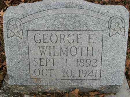 WILMOTH, GEORGE E. - Boone County, Arkansas | GEORGE E. WILMOTH - Arkansas Gravestone Photos