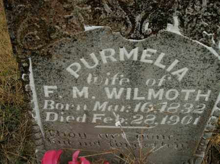 WILMOTH, PURMELIA - Boone County, Arkansas | PURMELIA WILMOTH - Arkansas Gravestone Photos