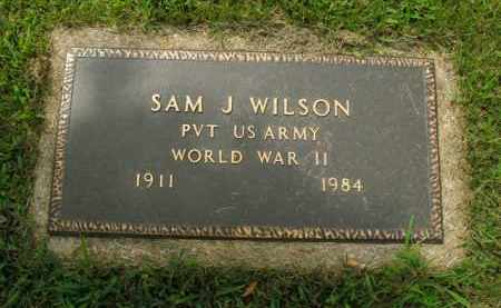 WILSON  (VETERAN WWII), SAM J - Boone County, Arkansas | SAM J WILSON  (VETERAN WWII) - Arkansas Gravestone Photos