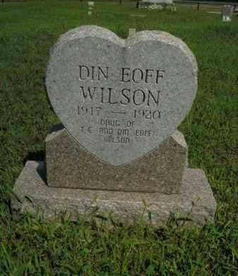 WILSON, DIN EOFF - Boone County, Arkansas | DIN EOFF WILSON - Arkansas Gravestone Photos