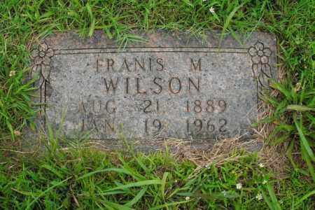 WILSON, FRANIS M. - Boone County, Arkansas | FRANIS M. WILSON - Arkansas Gravestone Photos