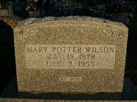 POTTER WILSON, MARY - Boone County, Arkansas | MARY POTTER WILSON - Arkansas Gravestone Photos