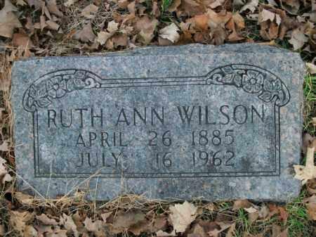 WILSON, RUTH ANN - Boone County, Arkansas | RUTH ANN WILSON - Arkansas Gravestone Photos