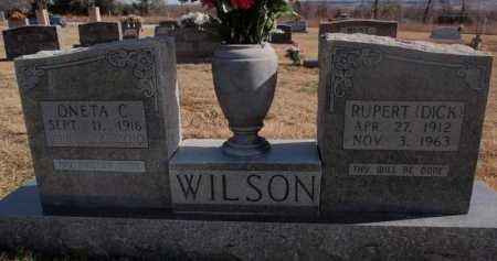 WILSON, RUPERT (DICK) - Boone County, Arkansas | RUPERT (DICK) WILSON - Arkansas Gravestone Photos