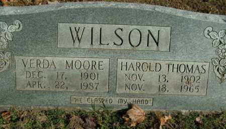 WILSON, HAROLD THOMAS - Boone County, Arkansas | HAROLD THOMAS WILSON - Arkansas Gravestone Photos